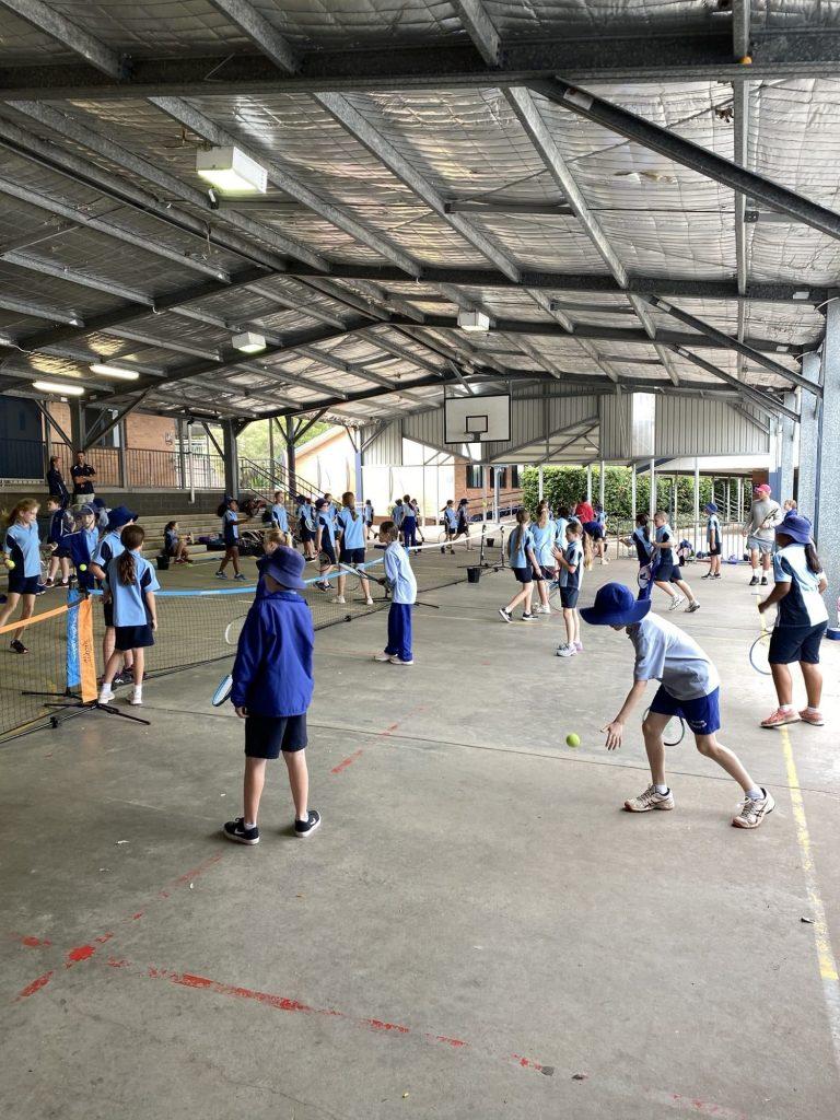 school sports tennis clinic